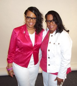 Valeda Keys (left) with her twin sister Vanessa Robinson